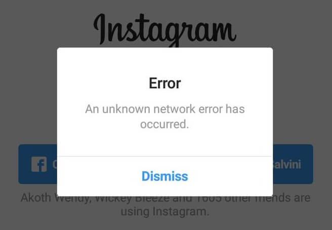"""Correggi Instagram """"Si è verificato un errore di rete sconosciuto"""""""